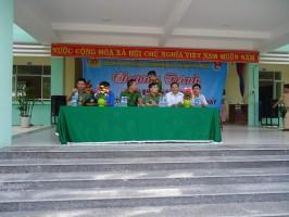 Trường THCS Quang Trung Kết hợp  Các Đơn vị CA tỉnh QN+CA A Điềm+ Doàn TN BV199 Tập Huan PCCC